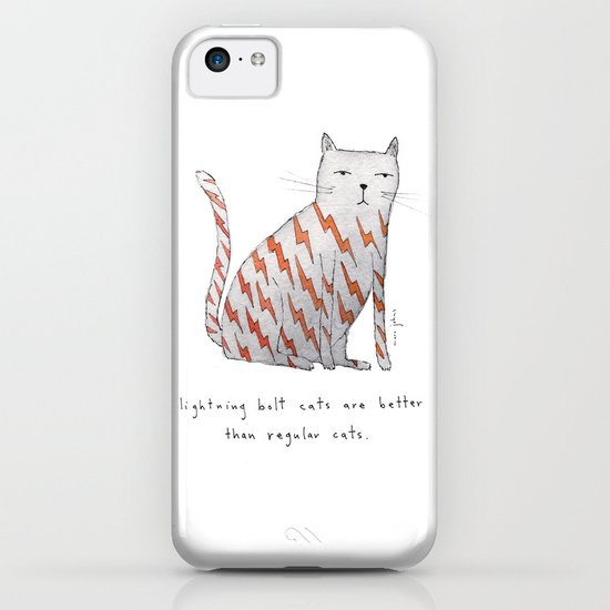 lightning bolt cats are better iPhone & iPod Case