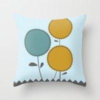 Country Flora Throw Pillow