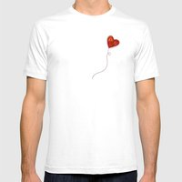 Elusive Heart Mens Fitted Tee White SMALL