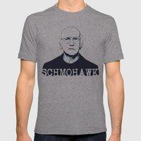Schmohawk     Larry David   Mens Fitted Tee Tri-Grey SMALL