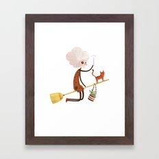 A WITCH Framed Art Print