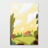 Campagne ensoleillée / Sunny countryside Canvas Print