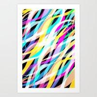 Surge Of Colour Art Print