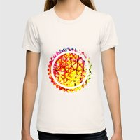 Vibrant Summer  Womens Fitted Tee Natural SMALL
