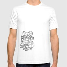 Flora White SMALL Mens Fitted Tee
