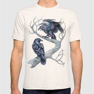 Odin's Ravens Mens Fitted Tee Natural SMALL