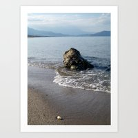 Rock On The Seashore Art Print