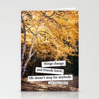 perks of being a wallflower - life doesn't stop for anybody Stationery Cards