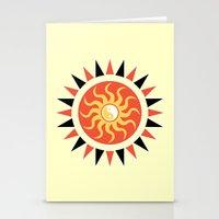 Yin yang sunshine Stationery Cards
