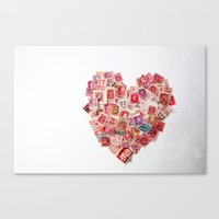 Sending Out A Love Letter - Stamps Canvas Print