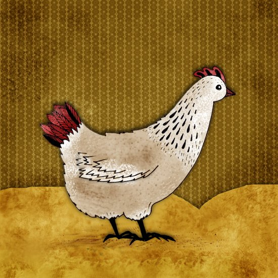 Cecile the Hen Canvas Print