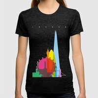 Shapes Of London. Accura… Womens Fitted Tee Tri-Black SMALL