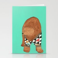 A bear in a sweater Stationery Cards