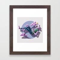 Chilling Among The Cloud… Framed Art Print