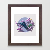 Chilling Among The Clouds Framed Art Print