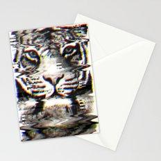 Tiger Glitch Stationery Cards