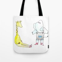 Gloria & Edna (trying on shoes) Tote Bag