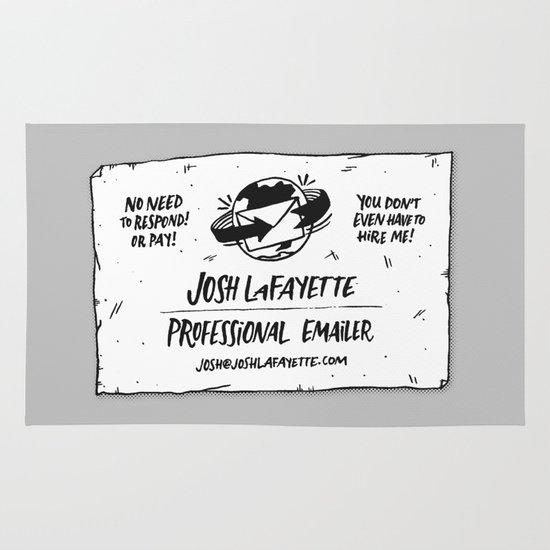Fake Business Card Area & Throw Rug