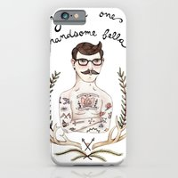 iPhone & iPod Case featuring Handsome Fellow by Brooke Weeber