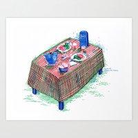 Table Art Print