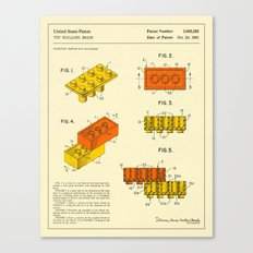 BUILDING BRICKS (1961) Canvas Print