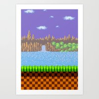 Green Hill Art Print