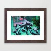 Mint Octopus Framed Art Print