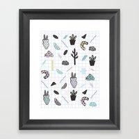 PASTEL GARDENS Framed Art Print