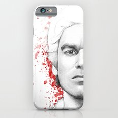 Dexter Morgan Portrait, Blood Splatters iPhone 6 Slim Case