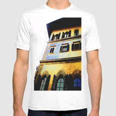 Paint Work SMALL White Mens Fitted Tee