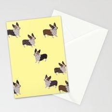 yellow corgis Stationery Cards