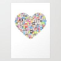 I Love Ipod Art Print