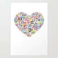 I love Ipod Art Print