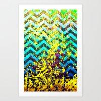 color Spatter set 3 Art Print