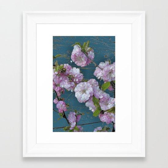 Vintage Pink Blossoms Framed Art Print