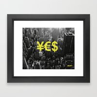 YES NYC Framed Art Print