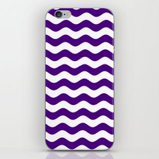 Wavy Stripes (Indigo/White) iPhone & iPod Skin