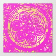 Power Of One: Hot Pink &… Canvas Print
