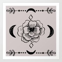 Magic flower Art Print
