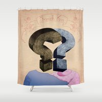 french kiss. question series Shower Curtain