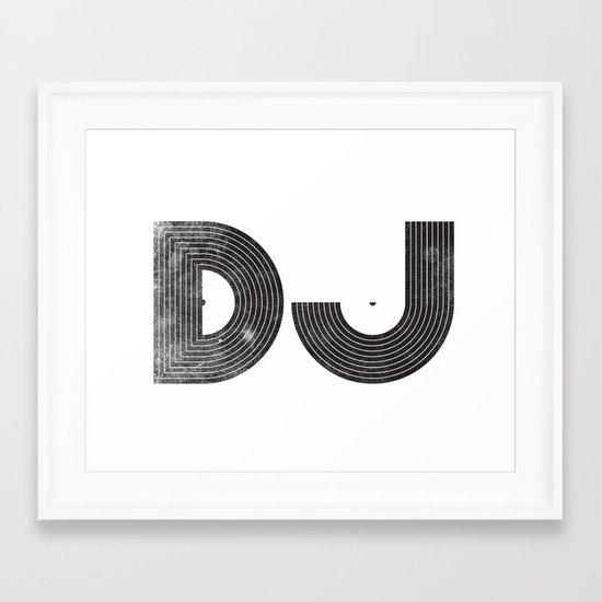 DJ Framed Art Print