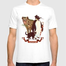 At the Arkham Zoo SMALL Mens Fitted Tee White