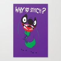 Why So Stitch? Canvas Print