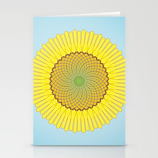 Spring Yellow Stationery Card
