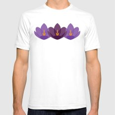 Crocus Flower Mens Fitted Tee White SMALL