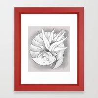 Fossil Mysterion #3 (B&W) Framed Art Print