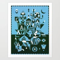Structura 3 Art Print