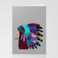 native american Stationery Cards featuring native american  by Lunah