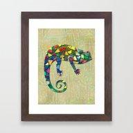 Animal Mosaic - The Cham… Framed Art Print