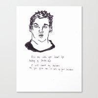 Love poem Canvas Print